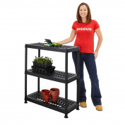 Greenhouse Shelving Plastic Ventilated 3 Tier Shelf Plant Storage Unit Garden
