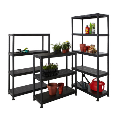Plastic Shelves Storage Shelving Garden Garage Shed Greenhouse - 4 Sizes Bigdug