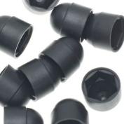 25 X Black Nut Covers Or Decorative Nut Caps M6