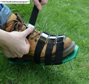 Gkangu Lawn Aerator Shoes Garden Spiked Sandals【 Upgraded 4 Straps】