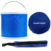 11l Foldaway Bucket Storage Container Blue Camping Fishing Travel Cleaning Car