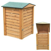 Greenfingers Wooden Hinged Compost Bin Apex Roof . Natural Eco Friendly