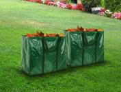 Livivo 2 X Garden Bag Waste Weeds Leaves Leaf Bin Rubbish Tidy Heavy Duty Sack