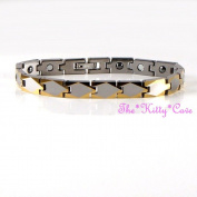 Magnetic Tungsten Carbide Ladies Cts Rsi Pain Slim 24k Gold Plt Rhodium Bracelet