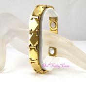 Magnetic Power Tungsten Arthritis Sports Injury Mens Ladies 24k Gold Pl Bracelet