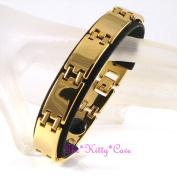 Strong Magnetic Tungsten Arthritis Pain Cts Rsi Brick Link 24k Gold Plt Bracelet