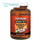 Lifeplan Active 16+ Manuka Honey 200mg Capsules - 30 Capsules