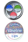 Vaseline Lips Lip Therapy Set Original, Aloe Vera And Rose Almond Oil