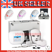 3 Colours Led Photon Light Therapy Facial & Neck Mask Skin Rejuvenation Anti-ageing