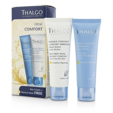 Thalgo Ideal Comfort Kit: Delicious Comfort Cream 50ml + Melt-away Mask 2pcs