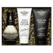 Gentlemen's Hardware Shaving Kit With Shave Cream Lotion Brush