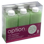 Hive Options Tea Tree Crème Wax Roller Depilatory Waxing Refill Cartridges X 80g
