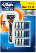 Gillette Fusion Proglide Men's Razor And 9 Razor Blades