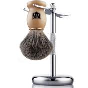 Miusco Premium 100% Pure Badger Hair Shaving Brush And Luxury Shaving Stand Set,