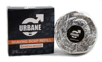 Urbane Men Sandalwood Shaving Soap Soap Refill 125g