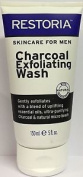 Three Packs Of Restoria Skincare For Men Charcoal Exfoliating Wash 150ml. Huge S