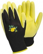 Tegera Yellow Latex Water Repellent Palm Ladies Gardening Work Gloves Xs S M L
