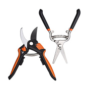 Bypass Secateurs, Omorc Professional Heavy Duty Pruning Shear Set Tree