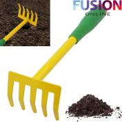 30 Cm Hand Held Garden Rake Trowel Shrub Leaf Gardening Tool Equipment Plant