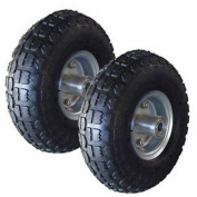 2pcs Pneumatic Tyre Replacement 25cm Hand Truck Trolley Wheel Barrow Carts