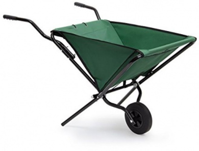 Relaxdays Foldable Wheelbarrow 66 X 64 X 112 Cm Folding Barrow Cart Of Steel Up