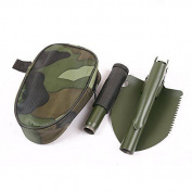 Nonslip Handle Compass Serrated Edge Mini Multi-function Folding Shovel