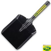 Groundmaster 15cm Wide Black House Fire Shovel - All Steel Versatile House Utensil