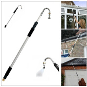 Telescopic Gutter Cleaner Aluminium Extendable Pole Water Fed Drain Diy Tool
