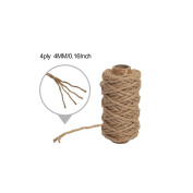 Tenn Well 4mm Natural Jute Twine, 20m Strong Jute String Rope For