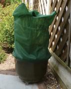 Fleece Plant Frost Protection Jacket Cover Dark Green Drawstring Tie 85 X 60cm