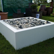 3-5 Cm Polished Pebbles 1kg Natural White Decorative Garden Plant Topper Stones