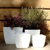 11cm Santiago White Planter Home/garden Flower Plant Pot Container