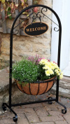 Garden Plant Stand Balcony Planters Patio Welcome Basket Planter Outdoor Hanging