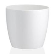 18cm Fiori Madeira Gloss White Planter Home/garden Flower Plant Pot Container