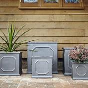 38cm Clayfibre Fibreclay Alternative Faux Lead Chelsea Box Planter Plant Pot