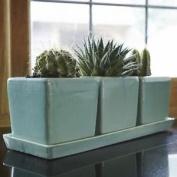 Glazed Green Herb Pot Planter/kitche