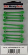 Green Plant Stem Support Clips
