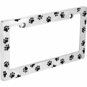 Auto Drive Paw Prints Licence Plate Frame