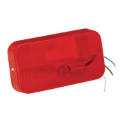 Bargman 31-92-001 Surface Mount Red RV Trailer Tail Light with White Base without Bracket