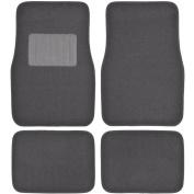 MotorTrend Premium Thick Plush Carpet Car Ridged Floor Mats