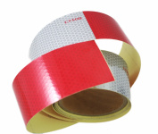 ABN Trailer Conspicuity DOT-C2 Approved 5.1cm Inch X 3m Reflective Red/White Tape