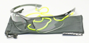 Elvex RX-500C-.75 Diopter Safety Glasses w/ SGB-5 Bag and SGC-10-HIVIZ Cord