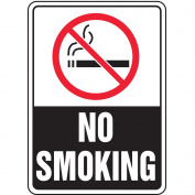 ACCUFORM SIGNS No Smoking Sign, 25cm x 18cm , R and BK/WHT MSMK509VP