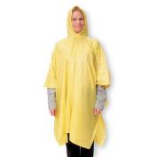 Condor Rain Poncho with Hood, PVC Nylon, Yellow, 1EJY3