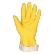 Mcr Safety Chemical Resistant Latex Gloves, XL, Yellow, 5250XL