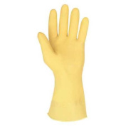 Mcr Safety Chemical Resistant Latex Gloves, L, 30cm L, Amber, 5110L