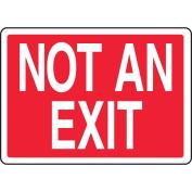 ACCUFORM SIGNS Exit Sign, 18cm x 25cm , WHT/R, Self-ADH Vinyl MADM419VS