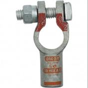 QUICK CABLE 4020-525-001P Straight Terminal, 2/0 ga., Orange, Pos