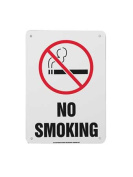 ACCUFORM SIGNS MSMK407VP No Smoking Sign, 25cm x 18cm , R and BK/WHT