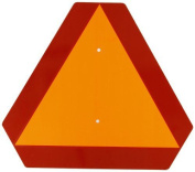 Brady 57894 41cm Width x 36cm Height, Steel, Reflective Orange and Red Slow Moving Vehicle Sign